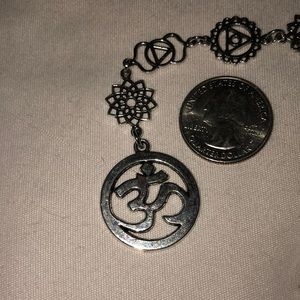 Accessories - 7 chakra Om symbol crystal dowsing pendulum